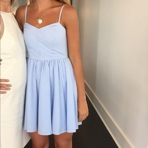 Light blue and white striped summer dress!